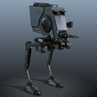 Star Wars AT-ST - low poly