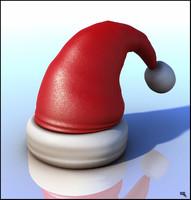 3d santa claus hat model