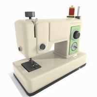 Cartoon Sewing Machine