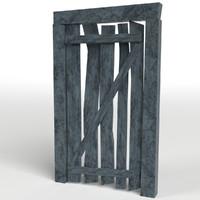3d model entrance wooden door uv