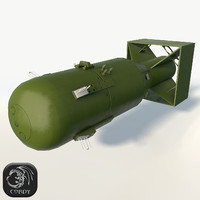 Nuclear bomb Little boy low poly