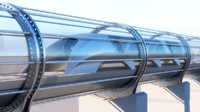 Hyperloop transport 3d model. Vray realistic materials and render 3ds max