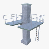 Diving tower three full