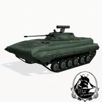 3d model bmp-2 second-generation amphibious