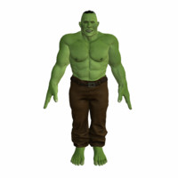 Lowpoly Orc Rigged