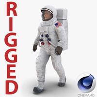 3d model astronaut nasa wearing spacesuit
