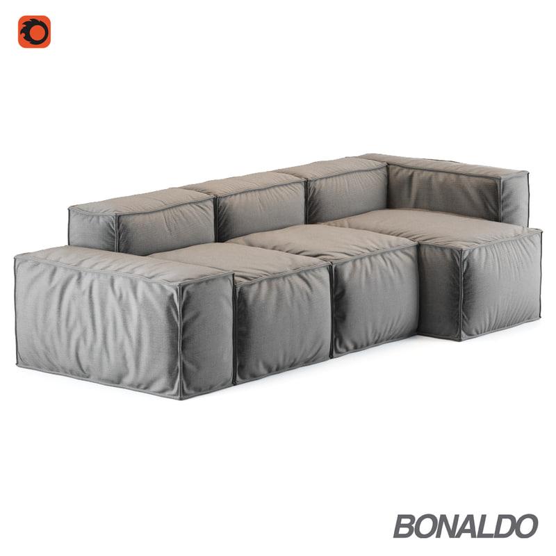 3d Model Corona Bonaldo Peanut Sofa