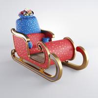 santa s sleigh sack 3d model
