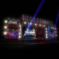 3d model of mega live stage set