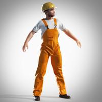 construction builder 3d model
