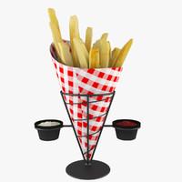Potato Wire Cone Basket