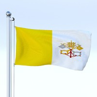 Animated Vatican City Flag