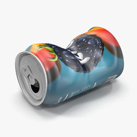 3d squashed soda model