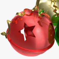 3d model christmas jingle bells