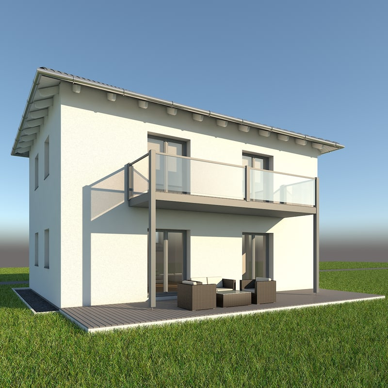 modern single family home x