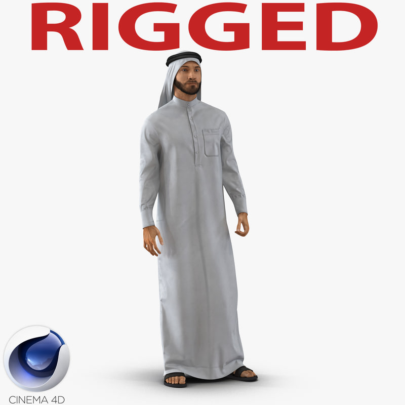 Arab Man Rigged for Cinema 4D by 3d_molier International: 3d_molier