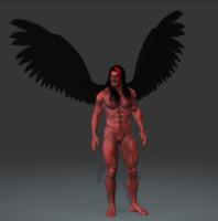 3d model demon god