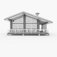 Wood Log House