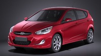 Hyundai Accent Hatchback 5-door 2017 VRAY