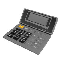 3d model electronic calculator unwrapped