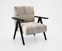 Retro Cowhide Chair Gray by West Elm