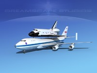 Space Shuttle Endeavour Transport LP 1-2 747