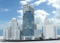 Boston skyscraper block