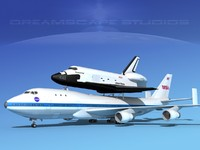 Space Shuttle Endeavour Transport MP 2-2 747