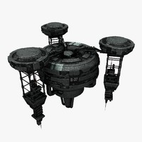 spaceship station 3d model