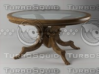3d model table wood