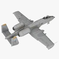 Attack Aircraft A-10 Thunderbolt II Rigged