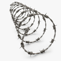 barbwire barb wire 3d model