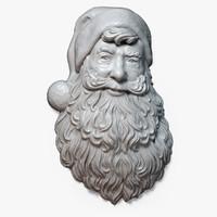 Santa Claus Portrait Relief