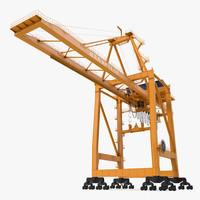 Container Handling Gantry Crane Orange