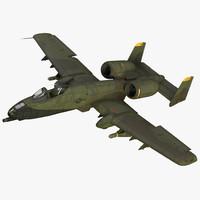 Fairchild Republic A-10 Thunderbolt II Green Rigged