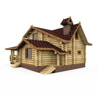Wood Round Bar House