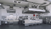 3d commercial kitchen