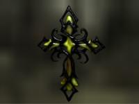 cross dark 3d c4d