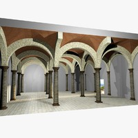 Vaulting 1_5 - Romanic, 750cm spaced, with thick arches