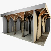 Vaulting 3_1 - Romanic, 500cm spaced, with thick curbs