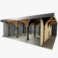 Vaulting 3_3 - Romanic, 750cm spaced, with thick curbs