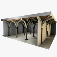 Vaulting 3_4 - Romanic, 750cm spaced, with thin arches and thick curbs