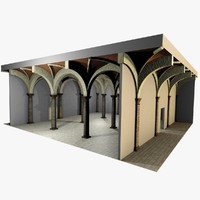 Vaulting 3_5 - Romanic, 750cm spaced, with thick arches and thick curbs