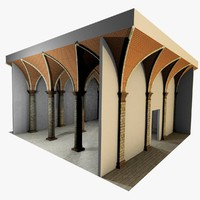 Vaulting 4_1 - Renaissance, 500cm spaced, with thick curbs
