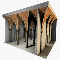 Vaulting 5_1 - Gothic, 500cm spaced, with thick curbs