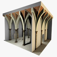 Vaulting 5_2 - Gothic, 500m spaced, with thin arches and thick curbs