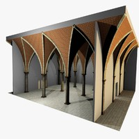 Vaulting 5_3 - Gothic, 750cm spaced, with thick curbs