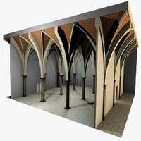 Vaulting 5_4 - Gothic, 750m spaced, with thin arches and thick curbs