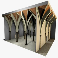 Vaulting 5_5 - Gothic, 750cm spaced, with thick arches and thick curbs