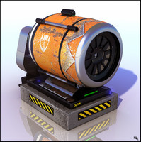 Futuristic Machine Fan